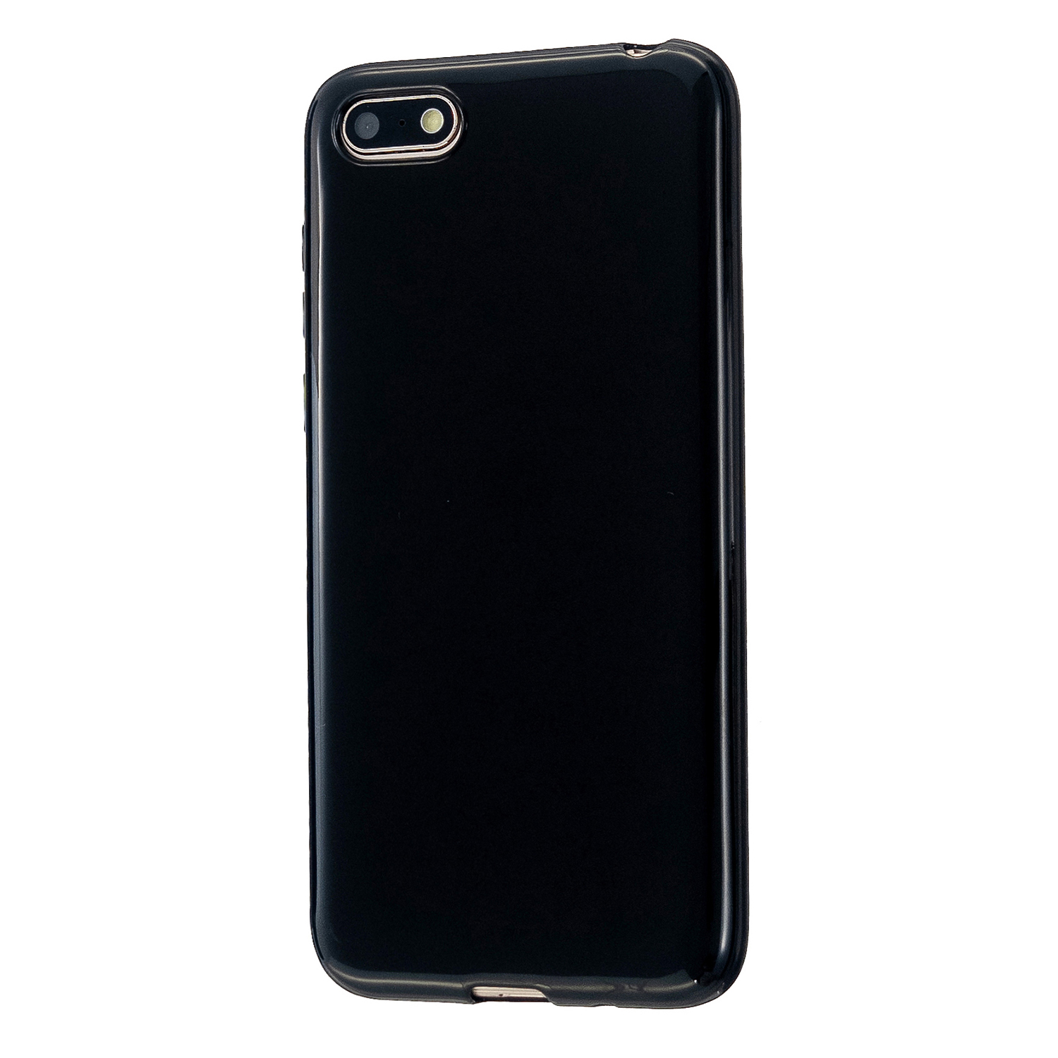 For HUAWEI Y5 2018/2019 TPU Phone Case Simple Profile Delicate Finish Cellphone Cover Full Body Protection Bright black