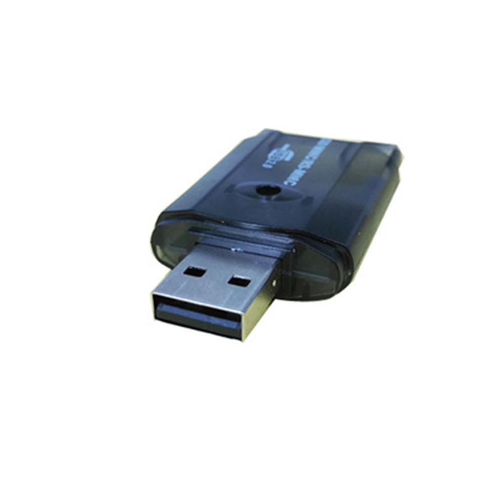 Multi-function Usb 2.0 SD Card Reader Transparent Small Mini Card Reader Smart Memory Card Reader Black