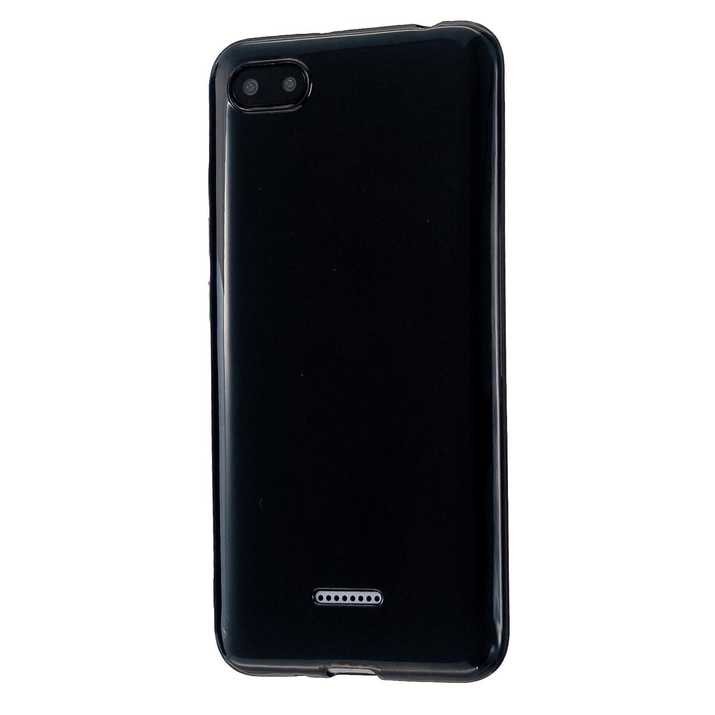For Redmi 6/6A/6 Pro Cellphone Case Simple Profile Soft TPU Ultra Light Anti-Scratch Phone Cover Bright black