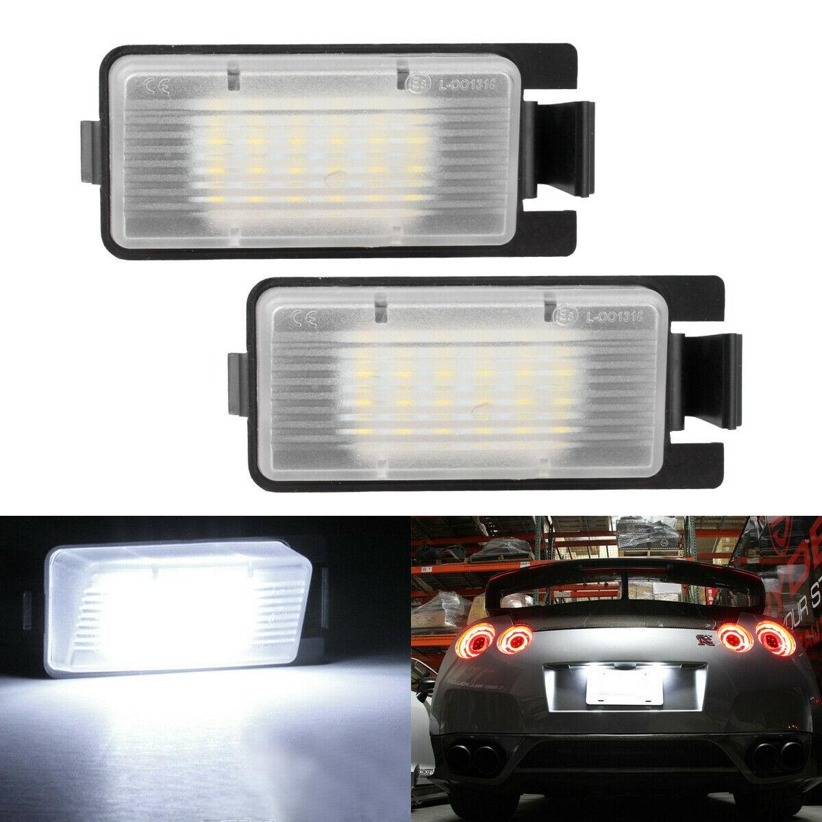 1 Pair License  Plate  Lights For Infiniti G25 G35 G37 S60 Sedan 2003-2013 Left And Right Boxed