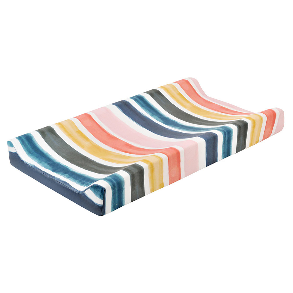 Removable Washable Changing Pad Cover for Baby Care Table Printing Cover thick strips