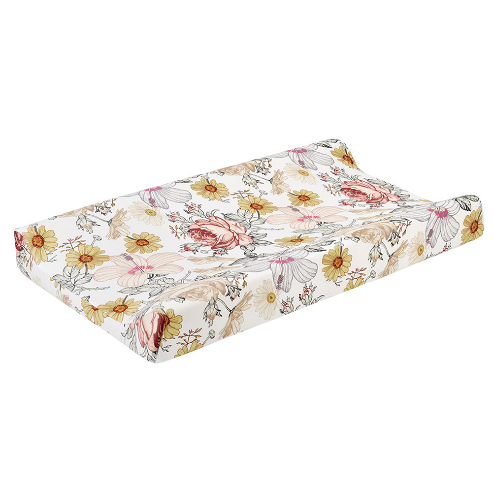 Removable Washable Changing Pad Cover for Baby Care Table Printing Cover Blooming