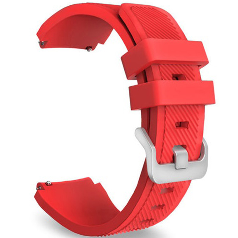 Quick Release Silicone Replacement Strap Wrist Watch Band with Stainless Metal Clasp for Samsung Gear S3 Red