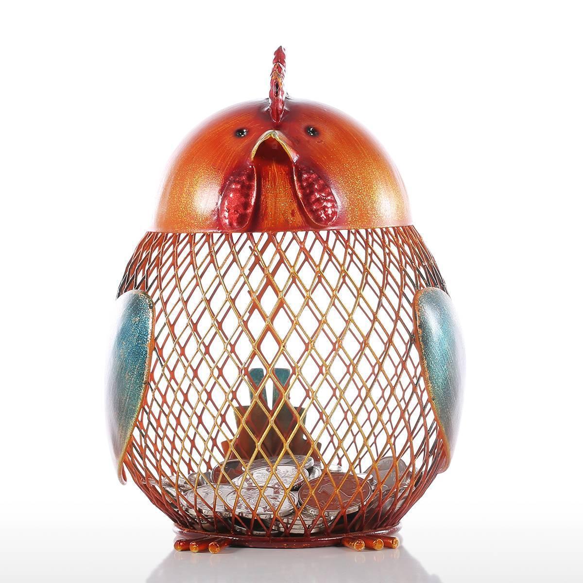 Iron  Piggy/Chick/Dog  Bank Coin  Storage Case Home Decoration Animal Figure Iron Art Chick piggy bank