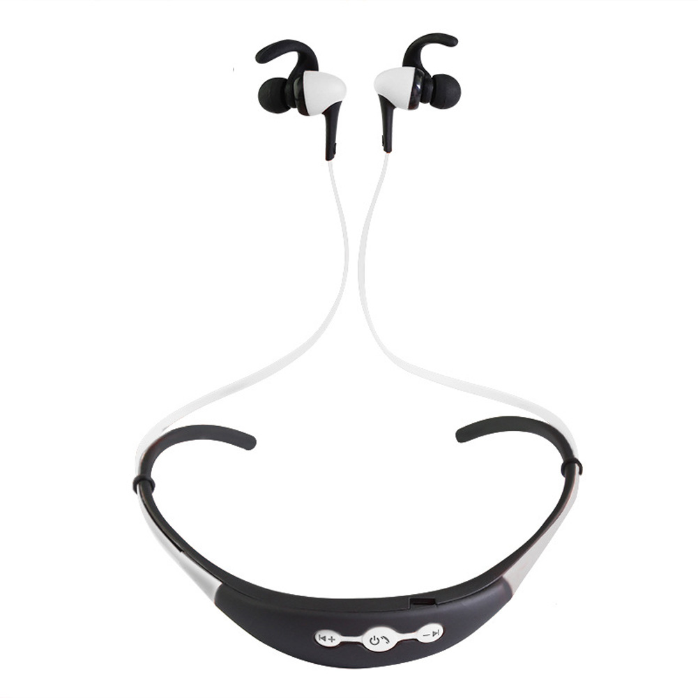 Neck Hanging Sport BT Earphone 4.1 Two in One Stereo Headset white