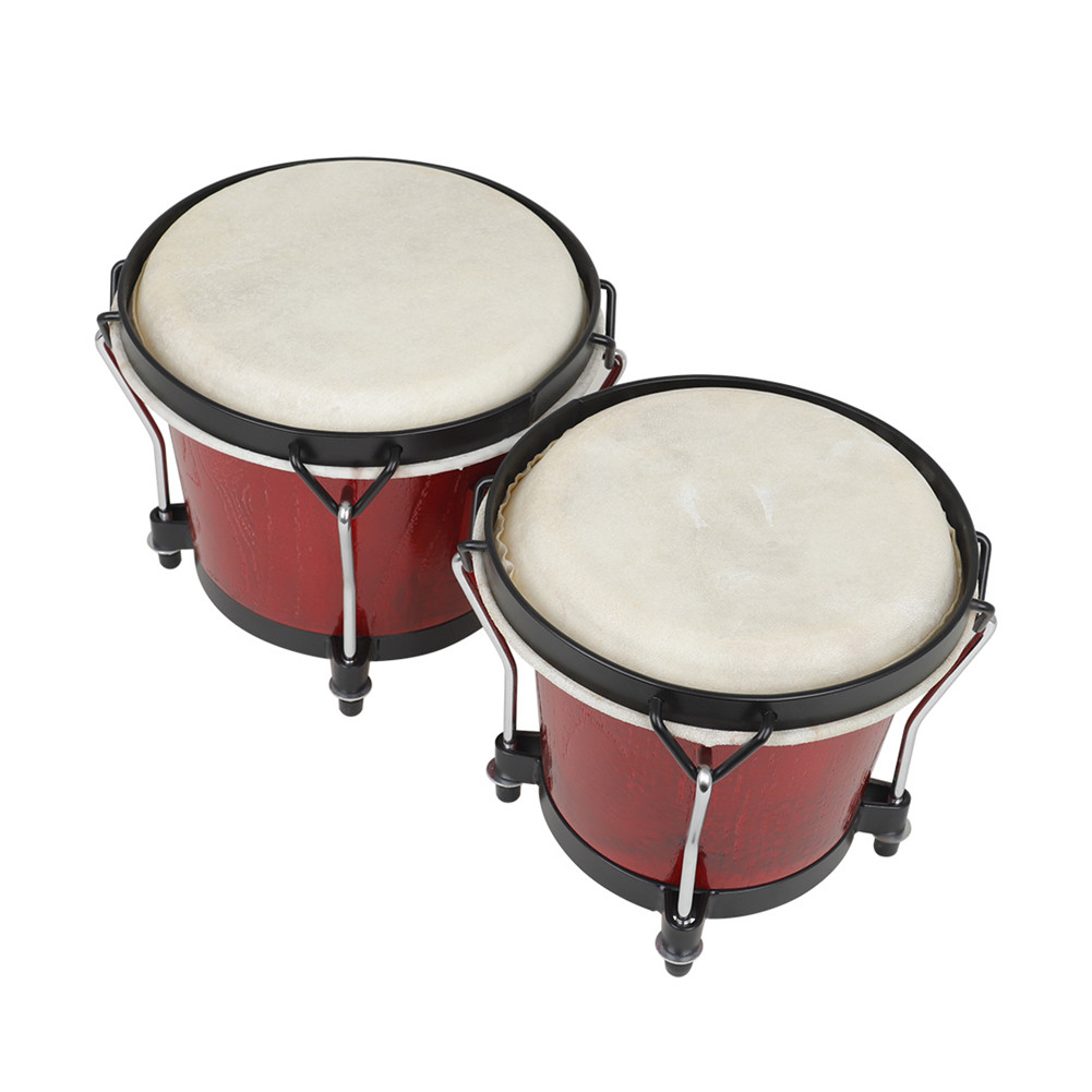 Children's Drum Thick Goatskin Percussion Instrument Drum for Kids red
