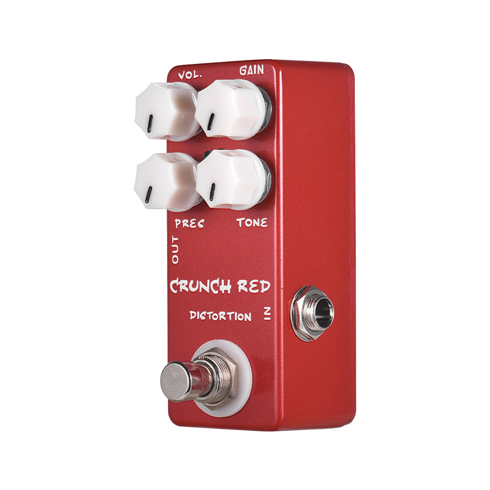 Electric Guitar Effector Metal Distortion Guitar Pedal with LED red