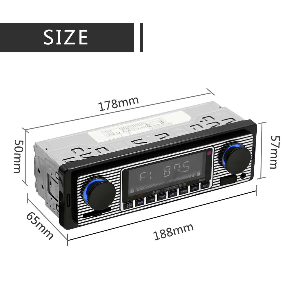 Wholesale Black Bluetooth Vintage Car Radio Mp3 From China