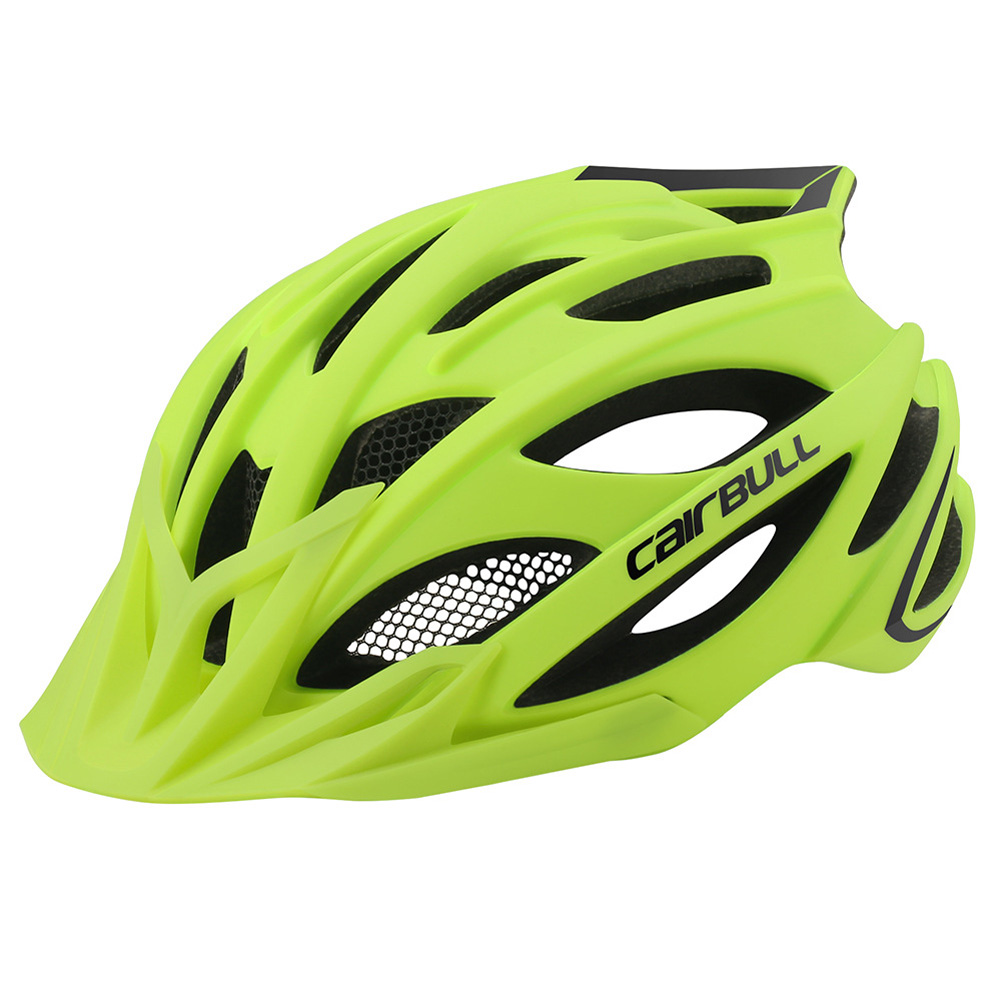 Cairbull CROSSOVER Cycling Helmet MTB Bike Helmet Integrated Rear Light Casco Ciclismo Road Mountain Helmets Safety Cap Fluorescent yellow_M (55-59CM)