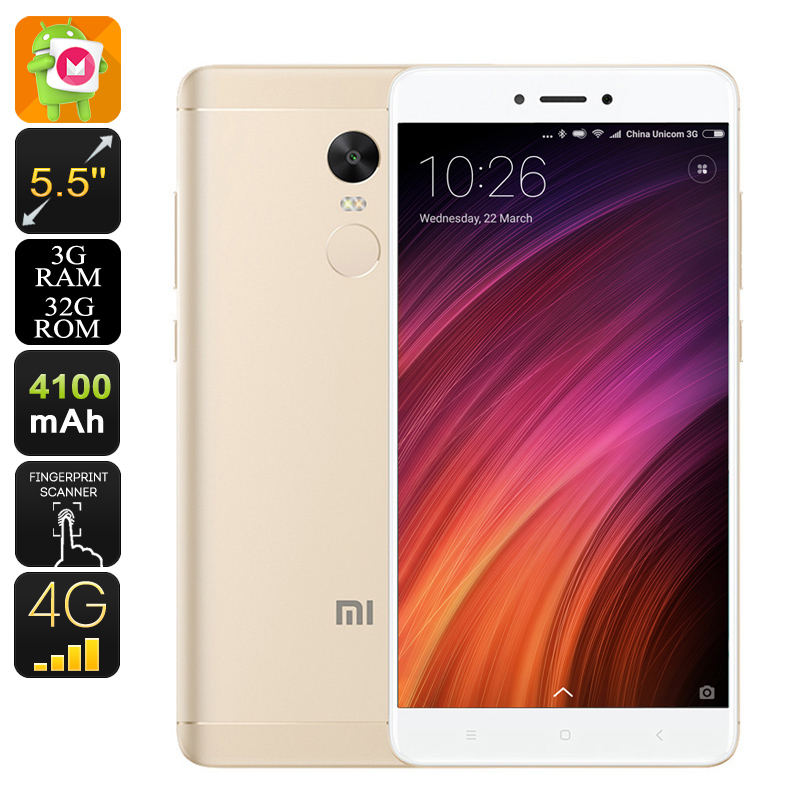 Android Phone Xiaomi Redmi Note 4X (Gold)