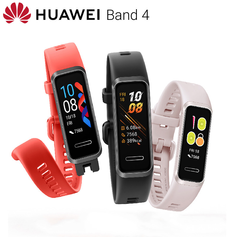 Huawei Band 4 Smart Sport Watch Plug and Charge Watch Faces Heart Rate Health Monitor Touch Screen pink