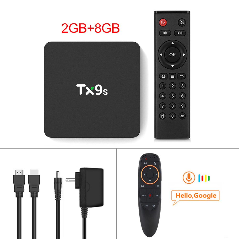 Tx9s Media  Player Abs Material Android Smart Network Tv Box With Remote Control 2+8G_European standard+G10S remote control