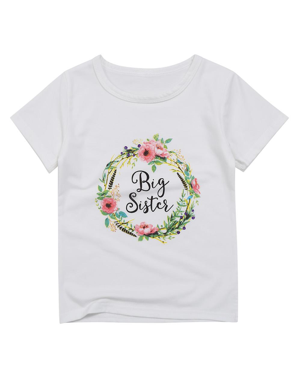 Kidlove Baby Girls' Flower Printed Short Sleeve Rompers Lovely Bodysuit White