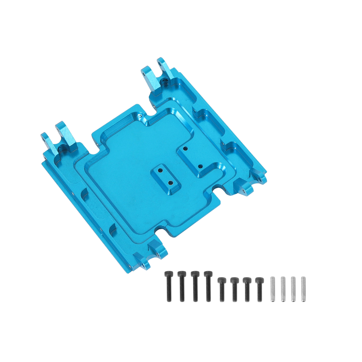 Center Gear Box Mount CNC Aluminum Skid Plate For 1:10 RC Crawler Car Axial Wraith 90018 blue