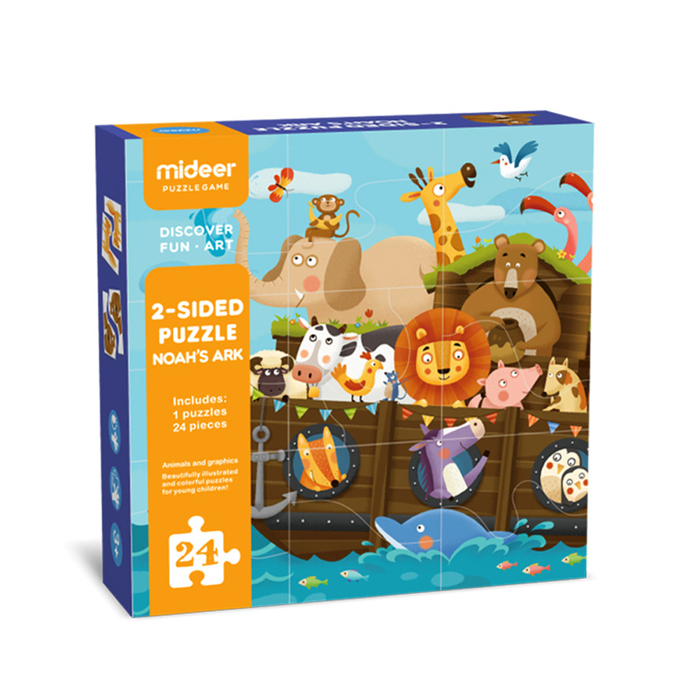 24pcs Jigsaw Puzzle Board Set Double Side Colorful Baby Educational Toys for Children Learning Developing Toy