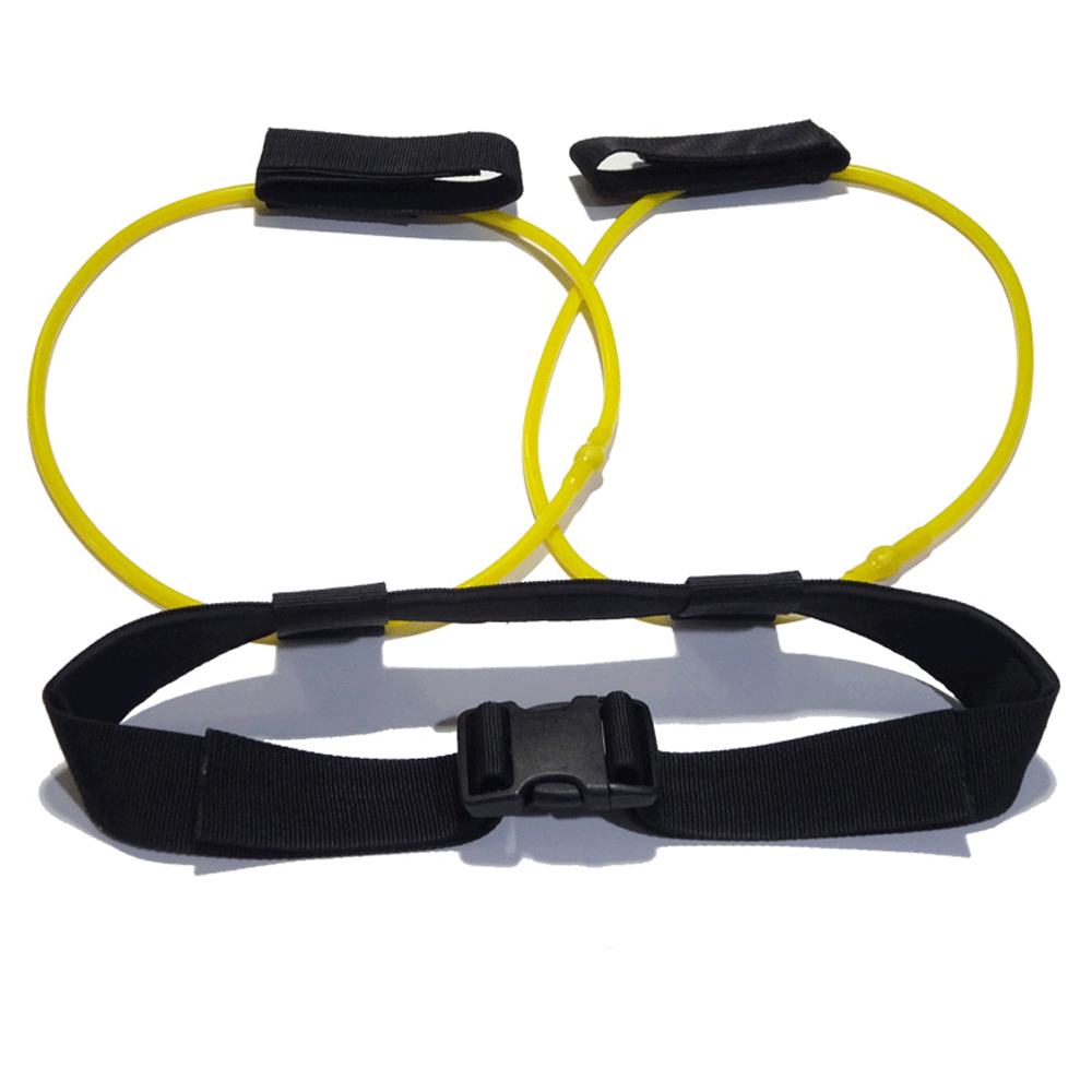 Fitness Women Booty Butt Band Resistance Bands Adjustable Waist Belt Pedal Exerciser for Glutes Muscle Workout yellow_10LB