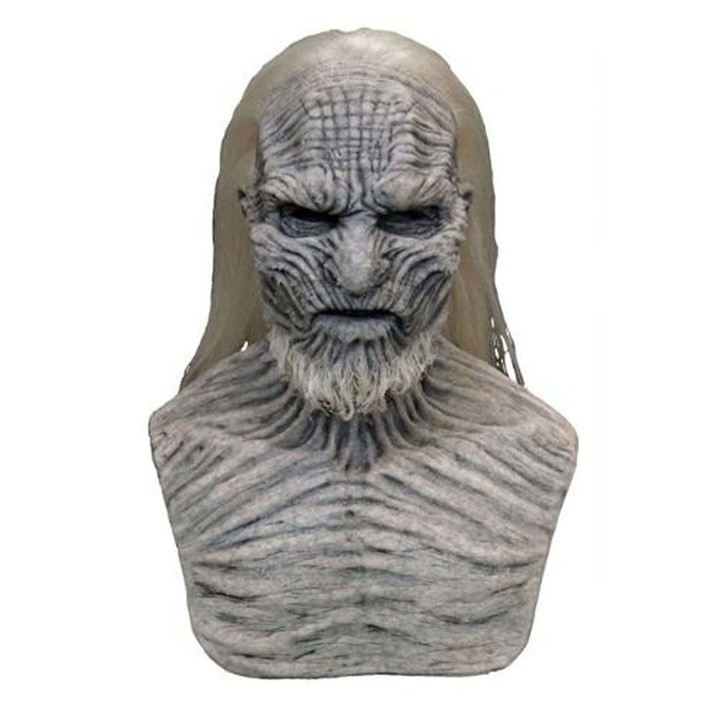 Halloween Mask Long Haired Night King Headgear Horror Latex Face Mask New Long Hair Walker