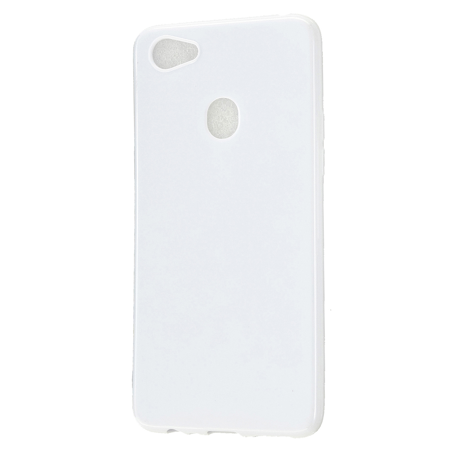 For OPPO F5/F7 Cellphone Cover Soft TPU Mobile Phone Case Screen Protector with Shock Absorption Technology Milk white
