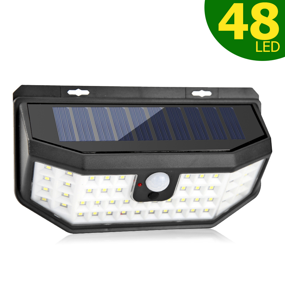 48LEDs Solar Light Motion Sensor Outdoor Garden Wall Lamp USB Rechargeable Light With USB charging cable