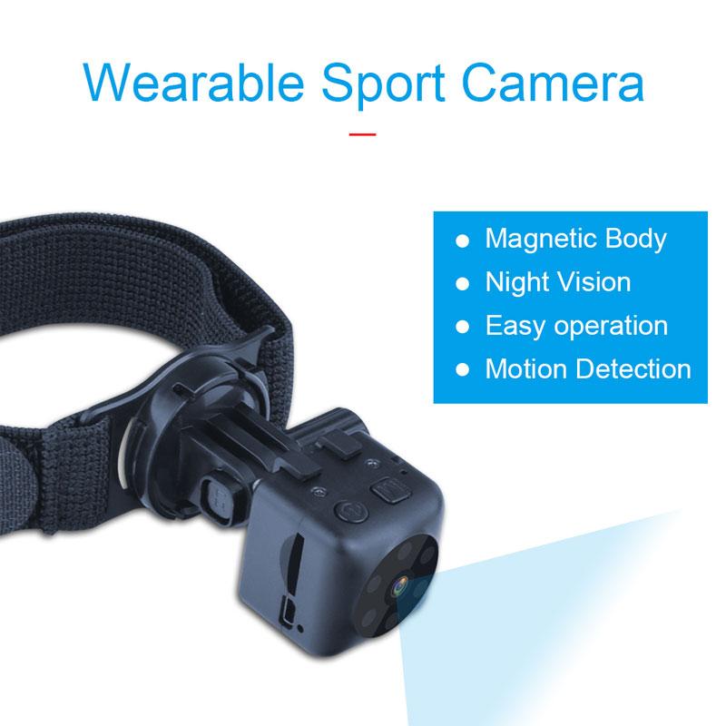 HD Mini Camera Camcorder Car DVR Motion DV Recorder Night Vision Video Sport DV Micro Camera black