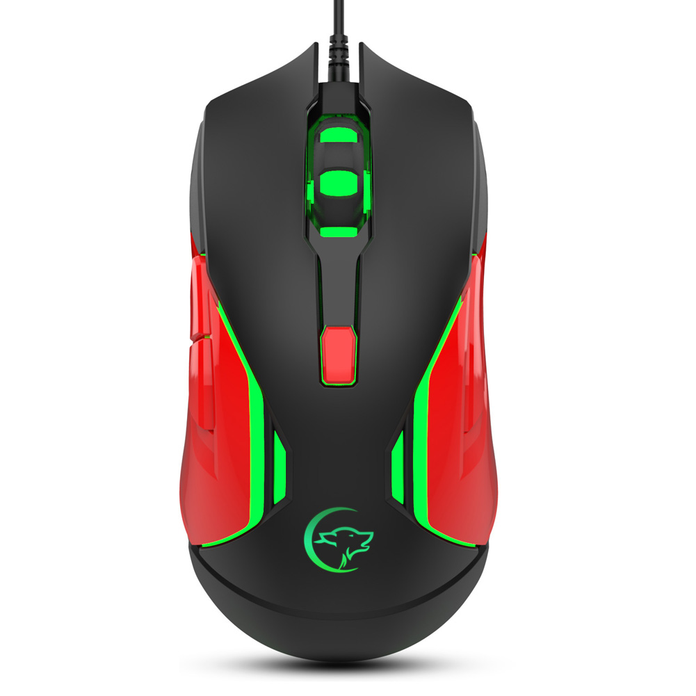 G837 Wired Gaming Mouse USB Computer Mouse for Desktop black