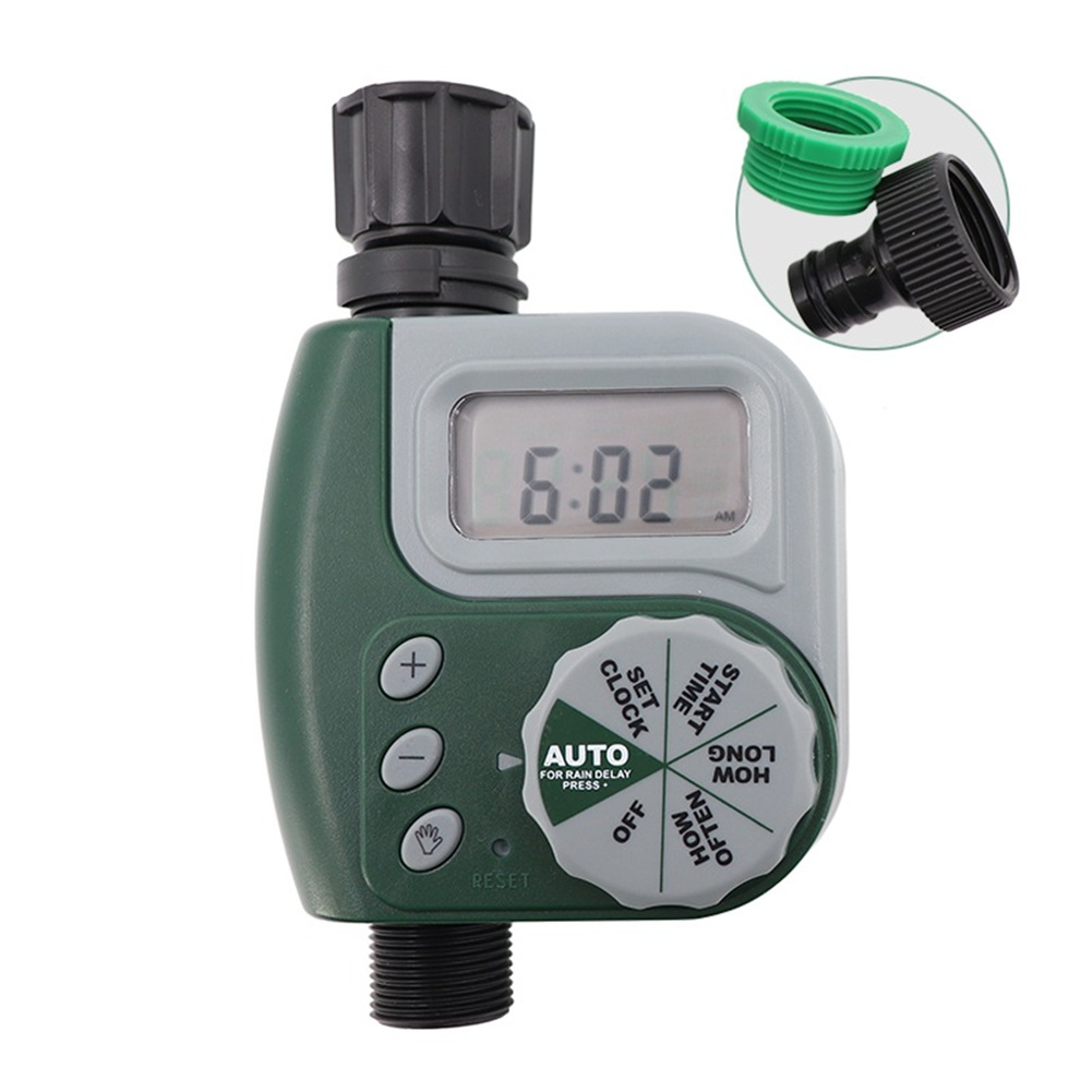 Automatic Faucet  Timer Garden Irrigation Controller 1-slot Sprinkler green