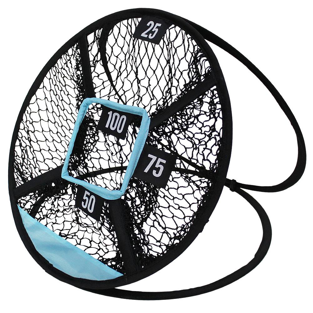 Golf Swing Net Pop Up Golf Chipping Net Indoor Outdoor Golf Practice Trainer Cages Mats Golfing Target black