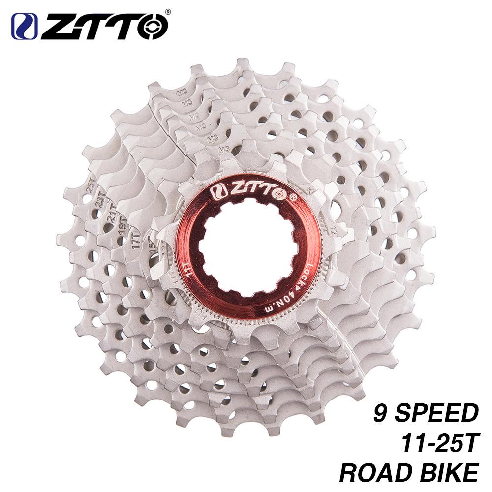 9-speed Bike Flywheel 25t Highway Flywheel Multi-stage Cassette Transmission  Bicycle Sprocket Silver
