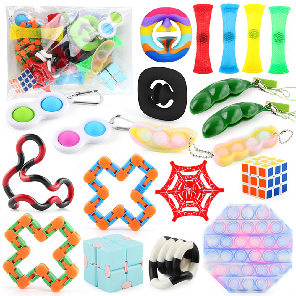 20  Pics/set  Magic  Cube  Puzzle  Decompression  Toy Anti-anxiety Easy Turning Smooth Magic Cube Toys Bagged