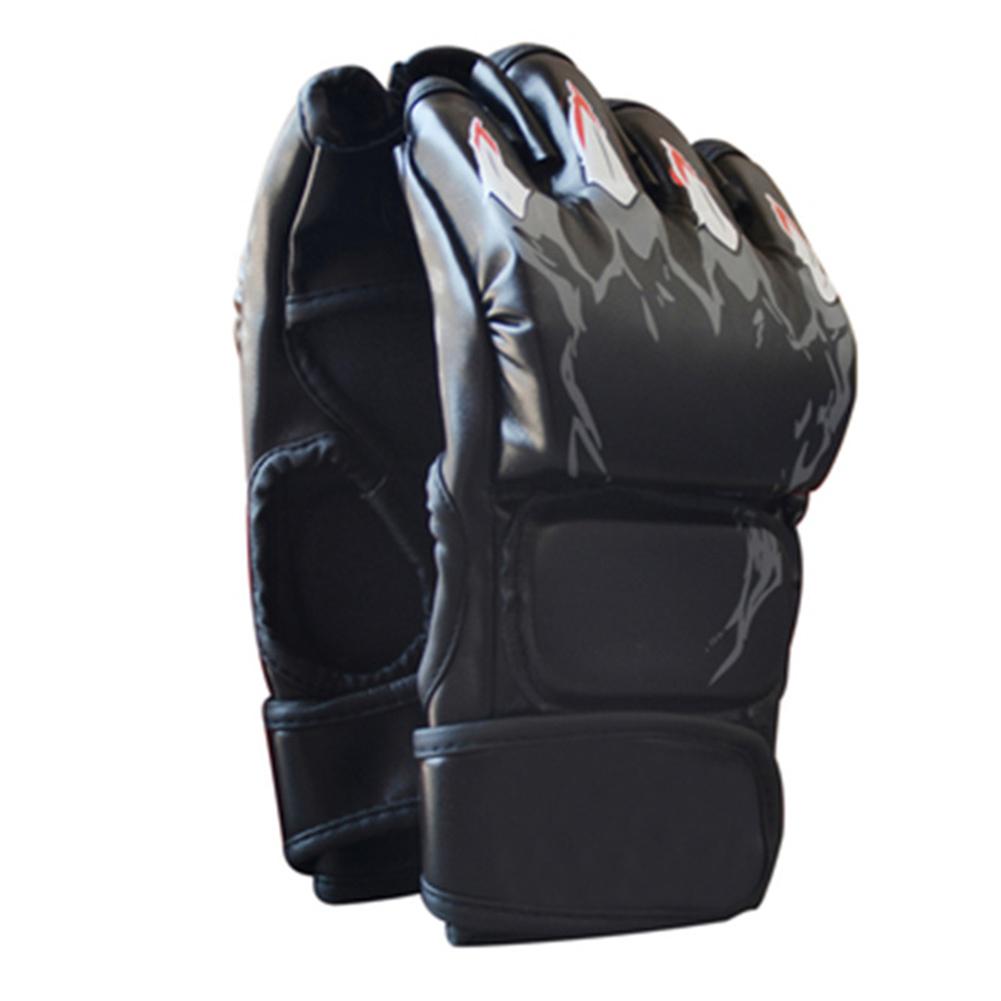 Boxing Gloves Flames Free Combat Gloves Training Sandbag Boxing Gloves black_As shown
