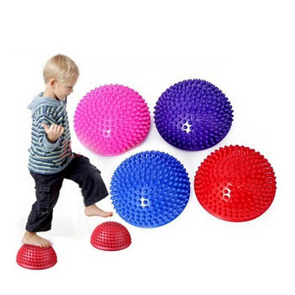Adult Children Yoga Foot Half Round Massage Cushion Spiky Balance Balls Domed Stability Pods Random color