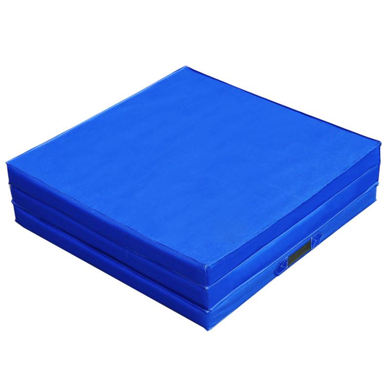 Trifold Sponge Yoga Mat Folding Gymnastics Exercise Mat - 70.8 x 23.6 x 1.9 inch Sky blue