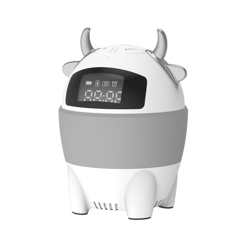 Bluetooth Smart Speaker AI Voice Function TF Card Lithium Battery Speaker gray