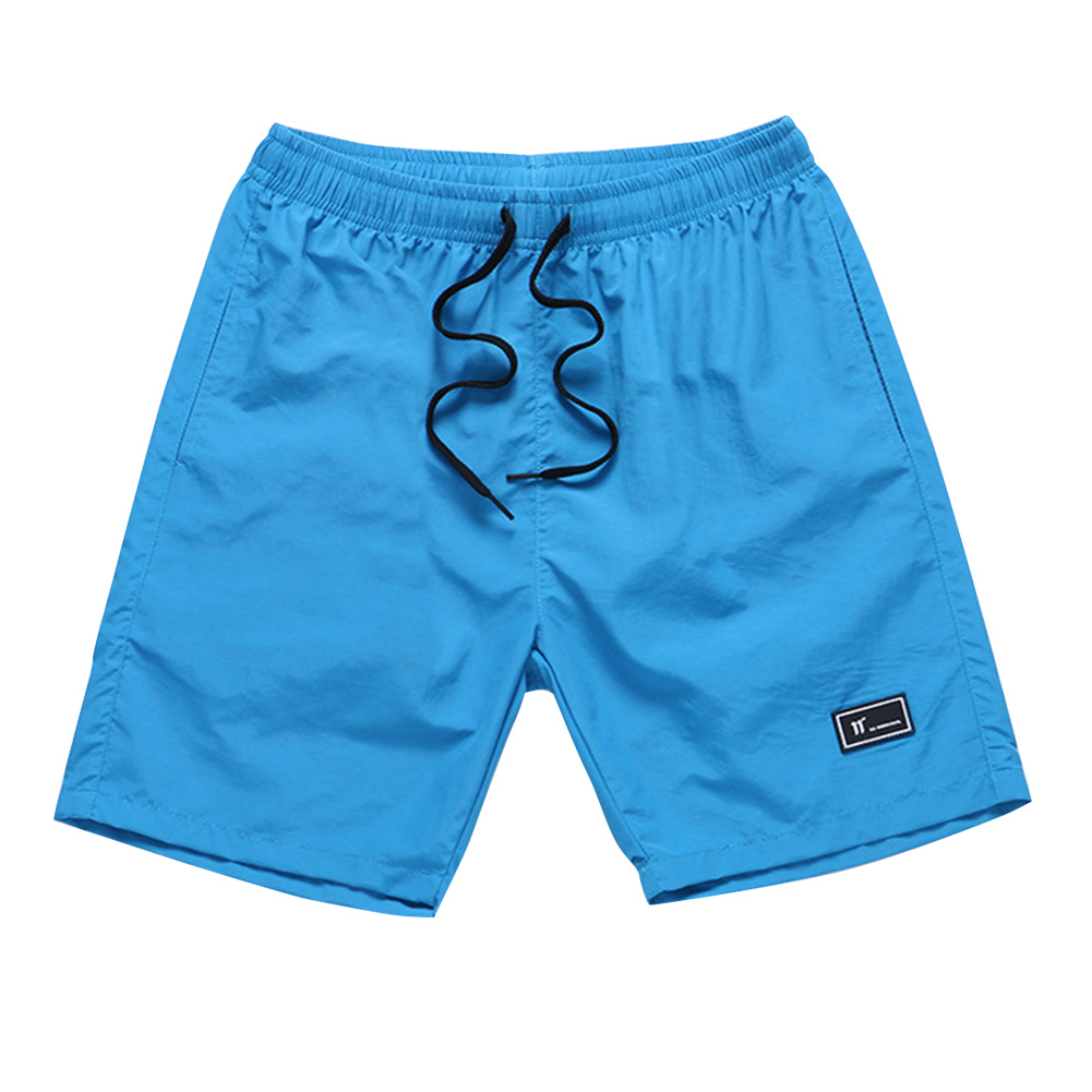 Men Summer Thin Casual Sports Middle Length Pants  sky blue_M
