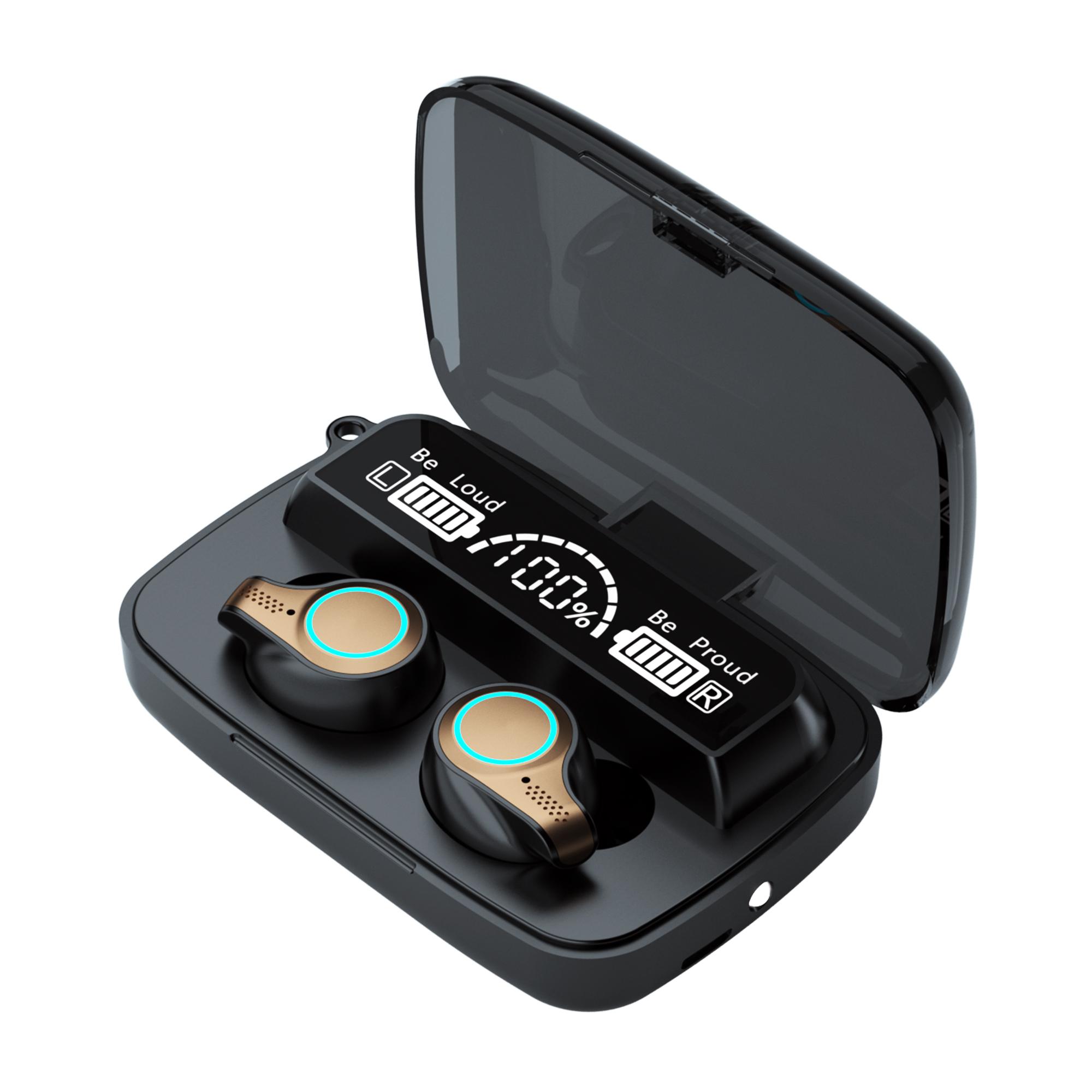 M18 TWS Wireless Earphone Touch Bluetooth 5.1 Earplugs In The Ear Stereo Music Headsets Sport Waterproof Headphones black