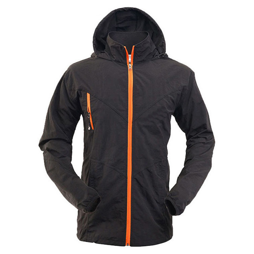 Unisex Fashion Sports Quick-drying Breathable Outdoor Fishing Leisure Tops/Pants Black jacket_L