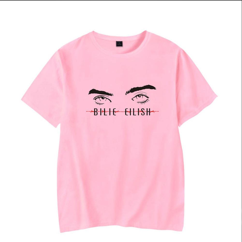 Men Women Summer Billie Eilish Pop Singer Ocean Eyes Printing Short Sleeve T-shirt E_S