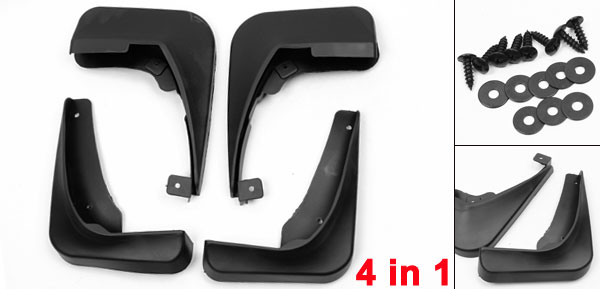 1 Set High Quality Plastic Splash Guards Set Mudguard for Buick Regal 2009 with Mounting Screws