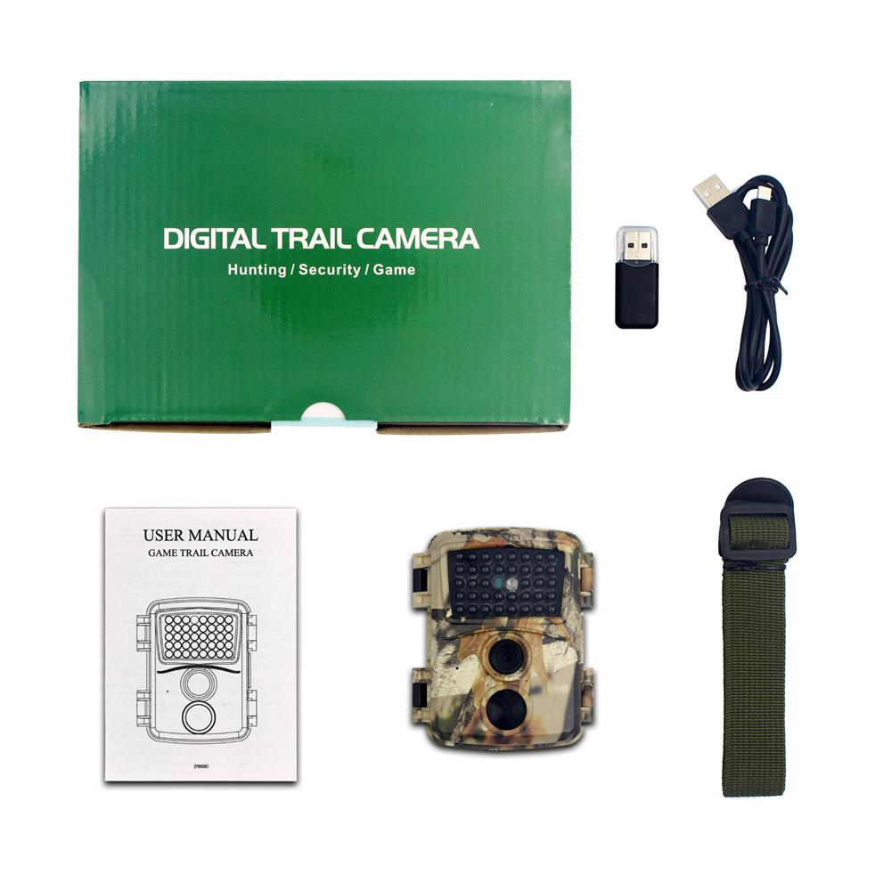 Outdoor Camera 1080p HD Infrared Cameras 12mp 38 Infrared Light Night Version Wildlife Scouting Cameras PR600C