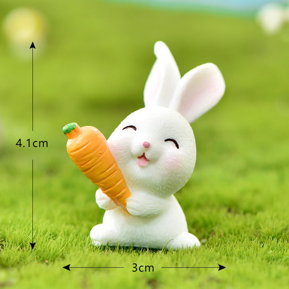 Cartoon Rabbit Easter Animal Model Micro Landscape Home Decor Garden Decoration Accessories #4