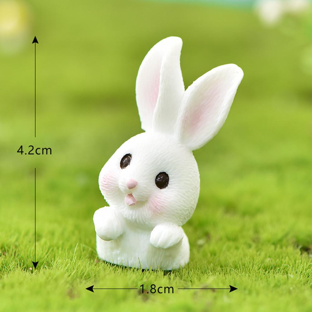 Cartoon Rabbit Easter Animal Model Micro Landscape Home Decor Garden Decoration Accessories #7