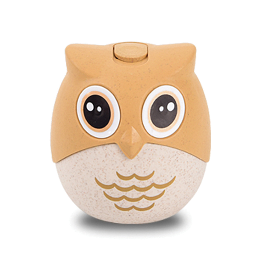 Cute Ca rtoon Owl Shaped Wheat Straw Toothpick Holder for Table Storage Decoration owl