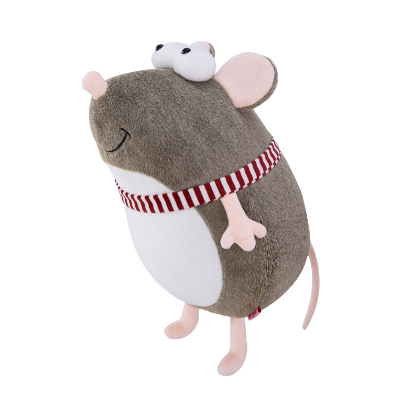 Plush Toy Cute Big Eyed Mouse Doll Year of the Rat Bolster Birthday Gift Photo Color