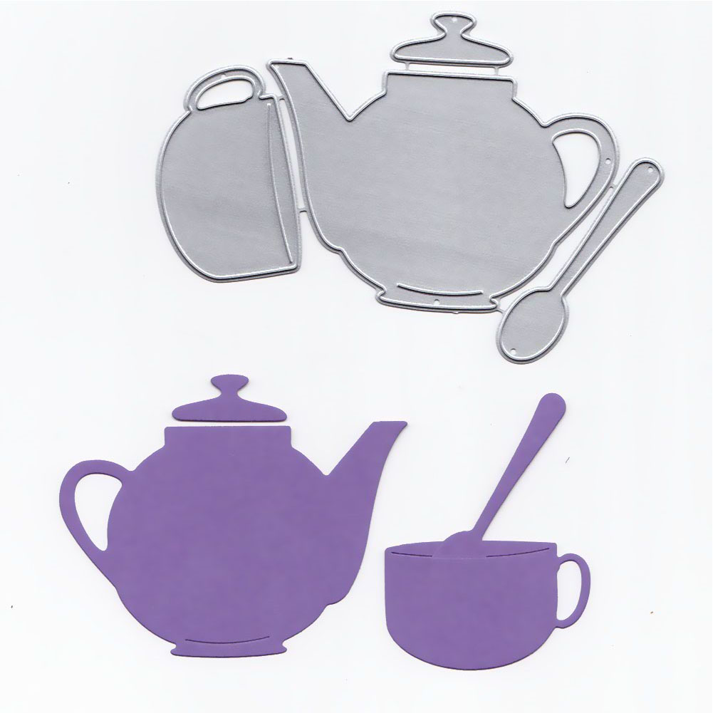 Teapot and Teacup Stamps and Dies for Card Making Metal Cutting Dies New 2018