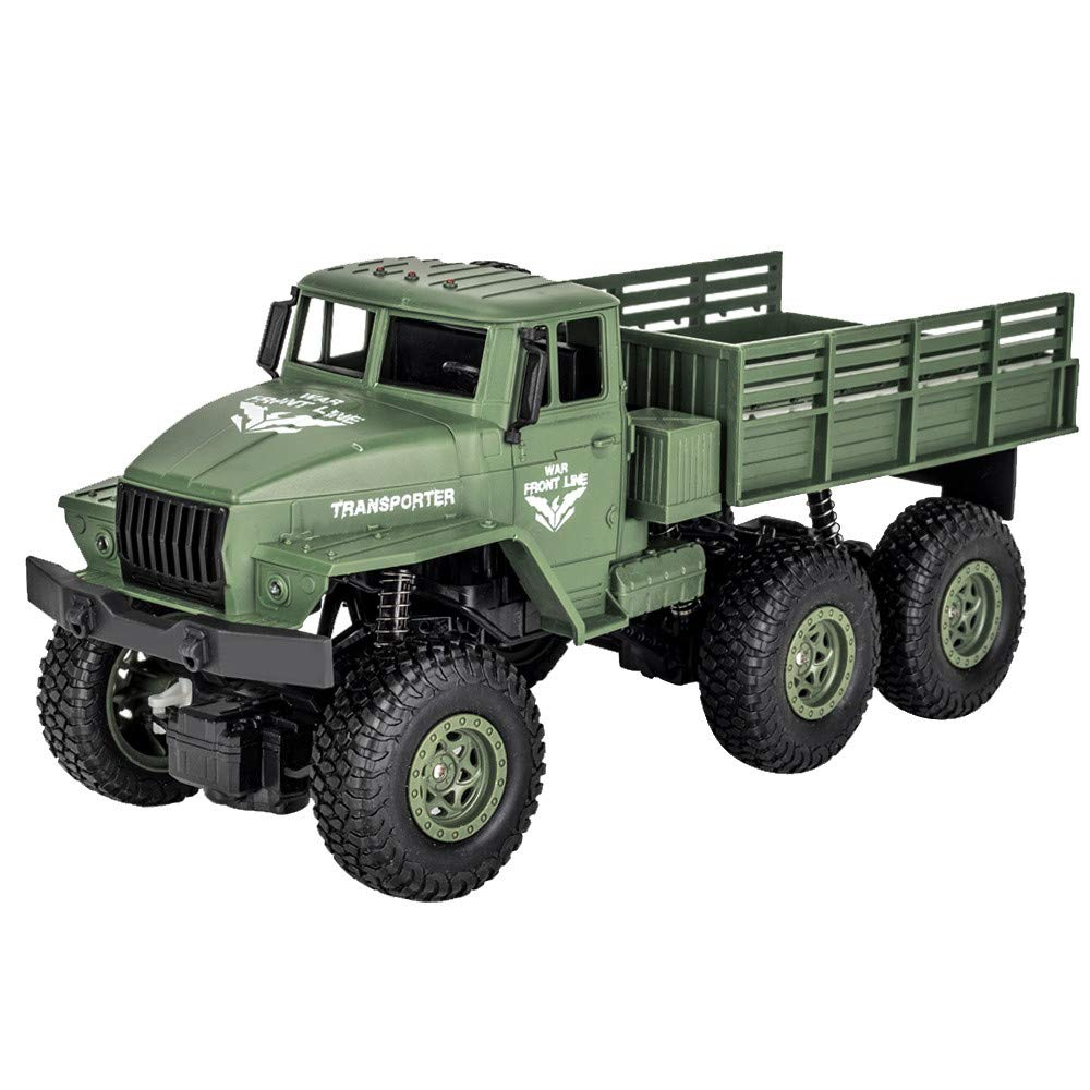 1/18 Six-wheel Remote Control Off-road Vehicle Four-wheel Drive Simulation Car Children Toy green