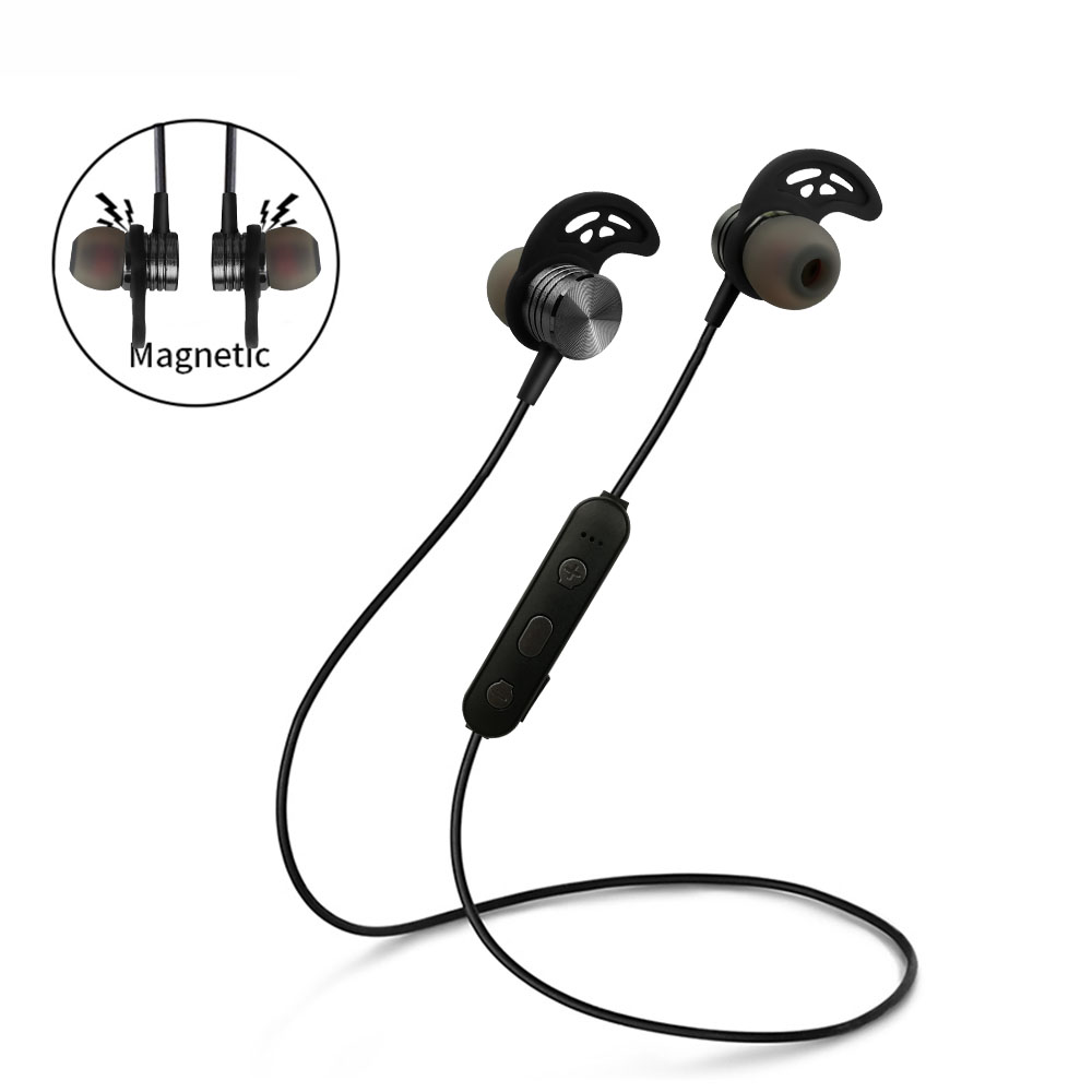 Wireless Headphone Bluetooth Earphone Neckband Sports Earphone Auriculare CSR Bluetooth for All Phone gray