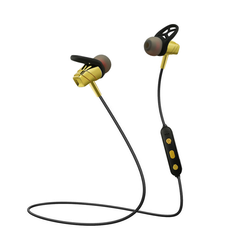 Wireless Stereo Headphone Bluetooth Earphone Neckband Sports Earphone Auriculare CSR Bluetooth for All Phone Gold