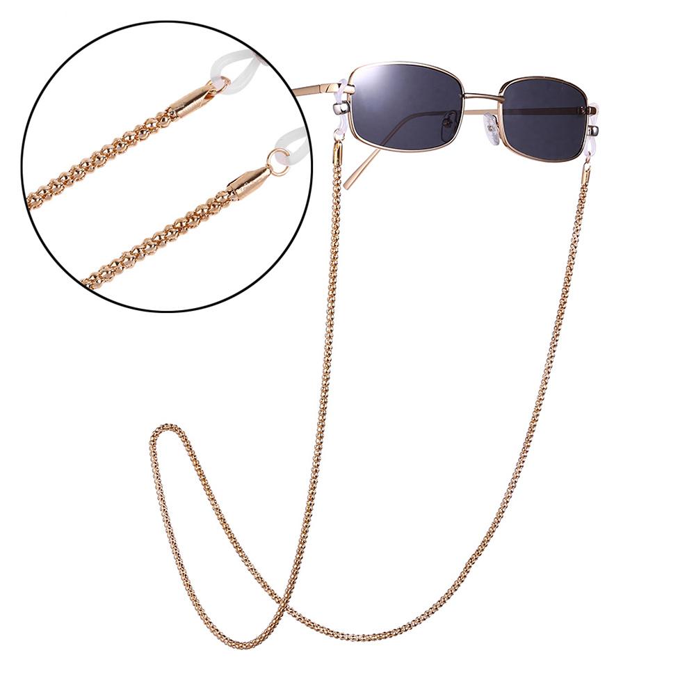 FGashion Corn Grain Metal Nonslip Eyeglasses Chain Gold
