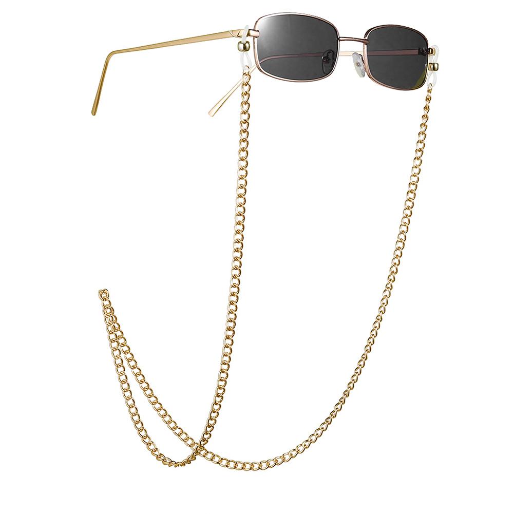 Fashion Metal Nonslip Eyeglasses Chain for Street Snap Prop Gold