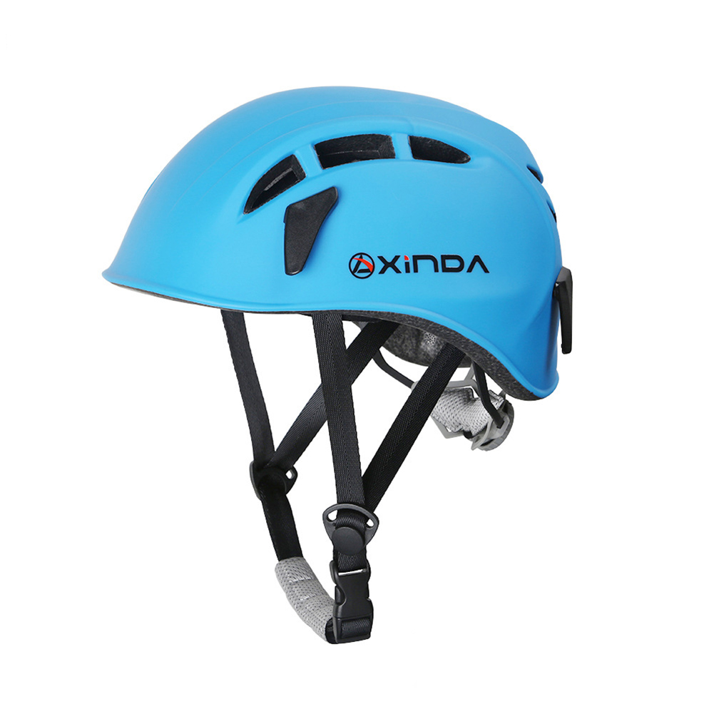 Outdoor Climbing Safety Helmet Hard Surface Hat Adjustable Helmet for Rescue Construction Climbing Work Helmet sky blue